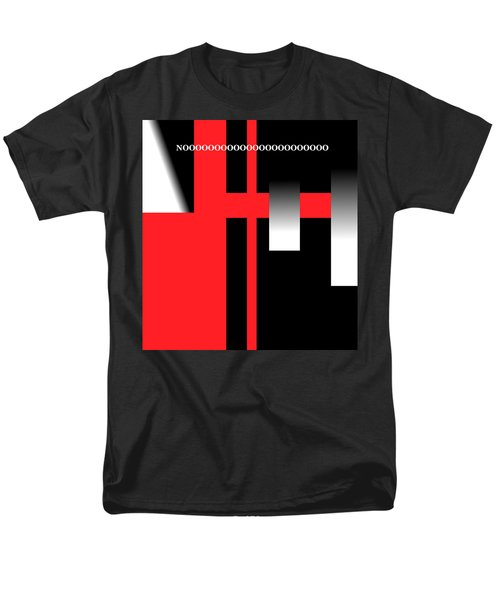 Men's T-Shirt  (Regular Fit) featuring the digital art No by Cletis Stump