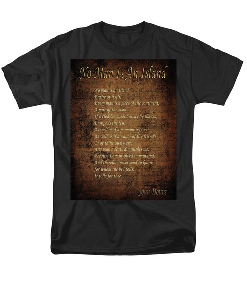 No Man Is An Island Men's T-Shirt  (Regular Fit) by Andrew Fare