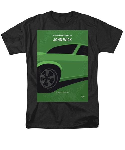 Men's T-Shirt  (Regular Fit) featuring the digital art No759 My John Wick Minimal Movie Poster by Chungkong Art