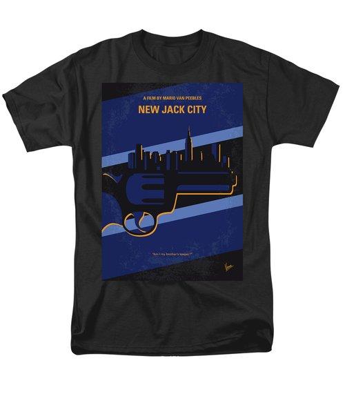 Men's T-Shirt  (Regular Fit) featuring the digital art No762 My New Jack City Minimal Movie Poster by Chungkong Art