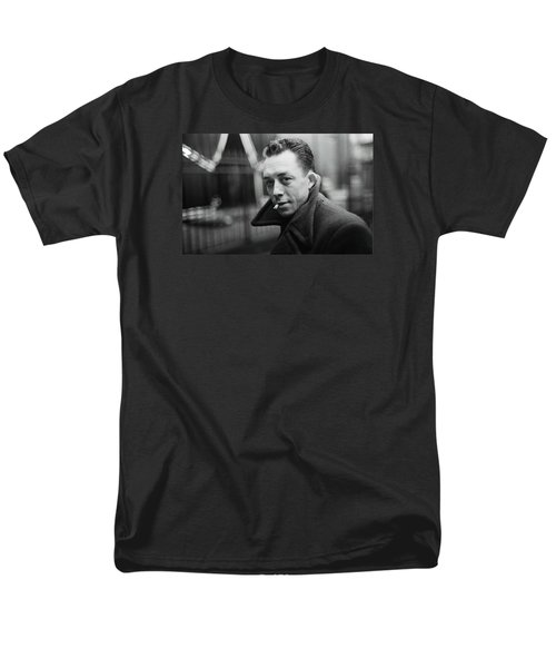 Nobel Prize Winning Writer Albert Camus  Unknown Date-2015           Men's T-Shirt  (Regular Fit) by David Lee Guss