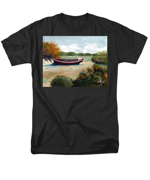 North Topsail Island Men's T-Shirt  (Regular Fit) by Jim Phillips