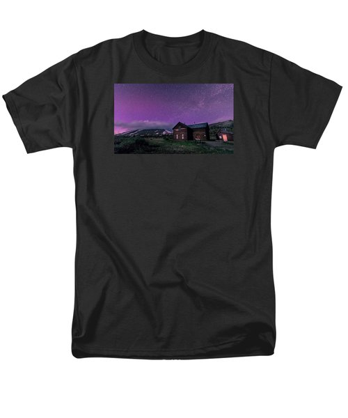 Northern Lights On Boreas Pass Men's T-Shirt  (Regular Fit) by Michael J Bauer