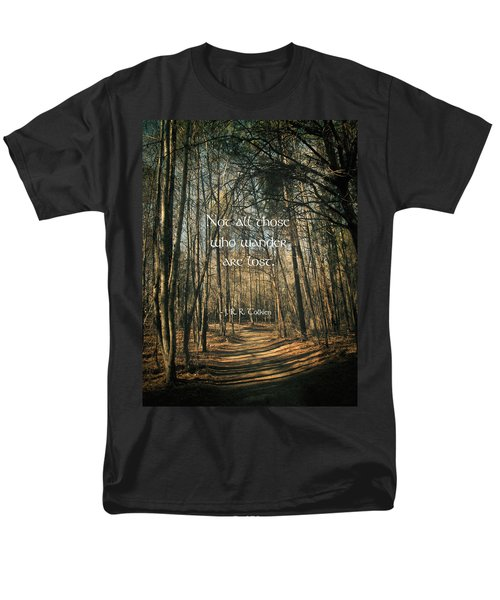 Not All Those Who Wander Men's T-Shirt  (Regular Fit) by Jessica Brawley