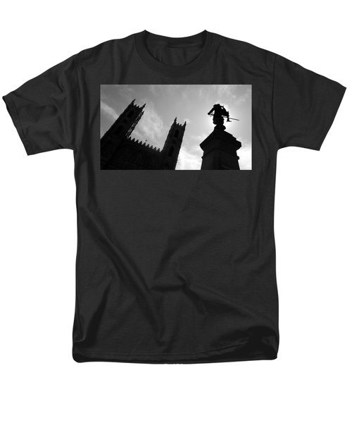 Men's T-Shirt  (Regular Fit) featuring the photograph Notre Dame Silhouette by Valentino Visentini