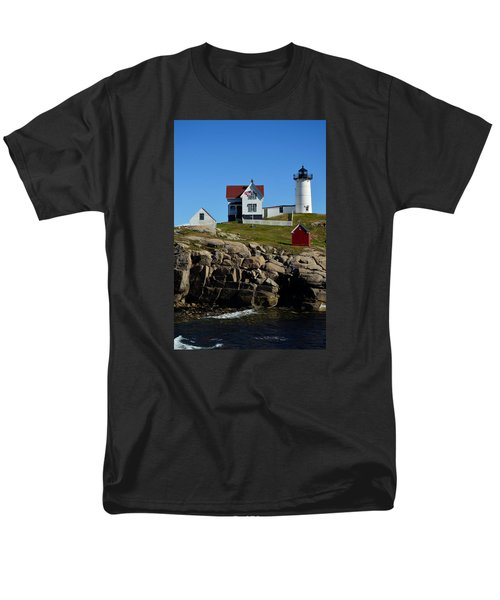 Men's T-Shirt  (Regular Fit) featuring the photograph Nubble Lighthouse 2 by Richard Ortolano