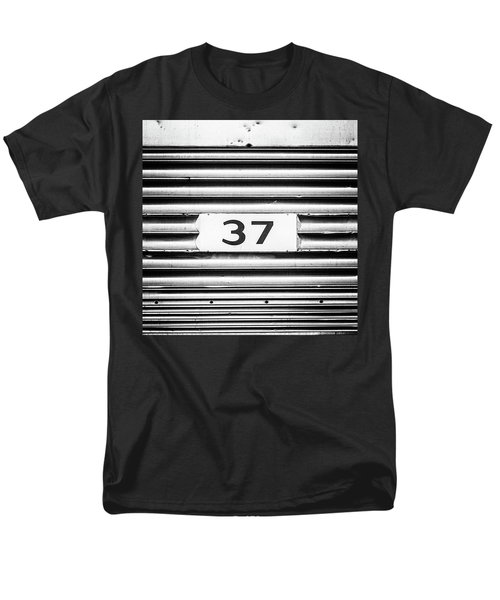 Number 37 Metal Square Men's T-Shirt  (Regular Fit) by Terry DeLuco