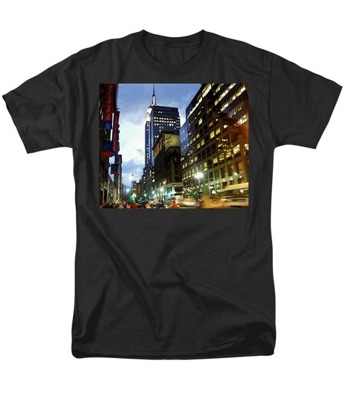 Men's T-Shirt  (Regular Fit) featuring the photograph Nyc Fifth Ave by Vannetta Ferguson