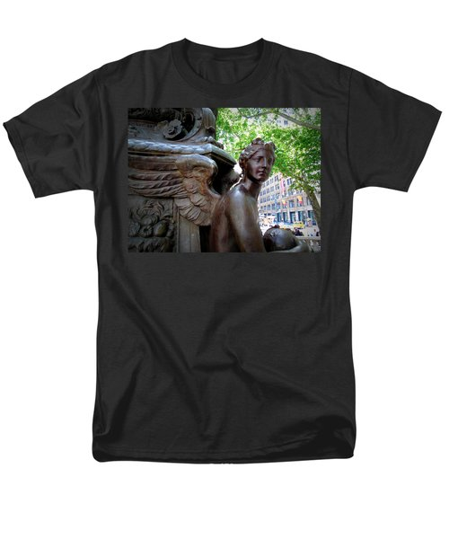 Nyc Library Angel Men's T-Shirt  (Regular Fit) by Susan Lafleur