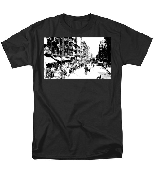 Nyc Lower East Side - 1902 -market Day Men's T-Shirt  (Regular Fit) by Merton Allen