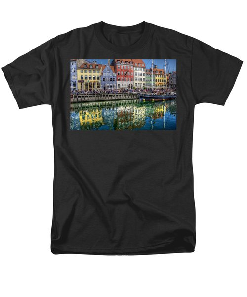 Nyhavn Harbor Area, Copenhagen Men's T-Shirt  (Regular Fit) by Karen McKenzie McAdoo