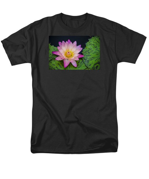Men's T-Shirt  (Regular Fit) featuring the photograph Nymphaea Hot Pink Water Lily by Deborah Smolinske