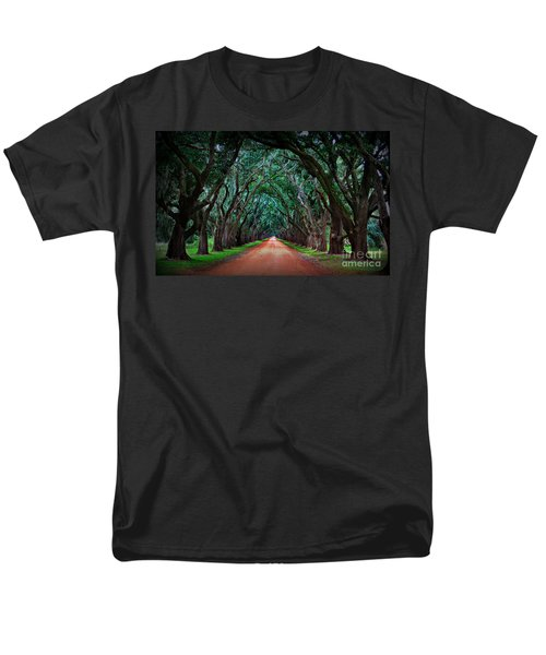 Oak Alley Road Men's T-Shirt  (Regular Fit) by Perry Webster
