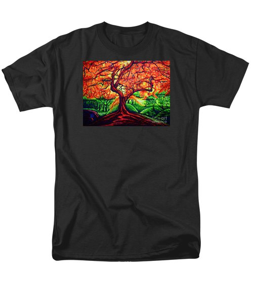 Men's T-Shirt  (Regular Fit) featuring the painting OAK by Viktor Lazarev