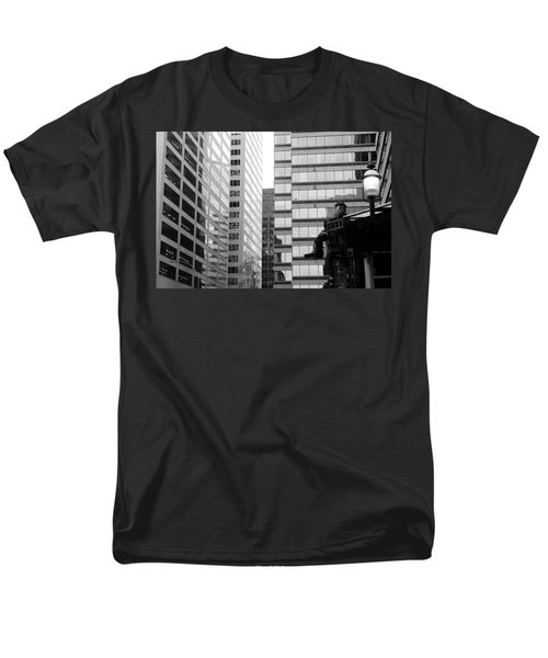 Men's T-Shirt  (Regular Fit) featuring the photograph Observing The City by Valentino Visentini