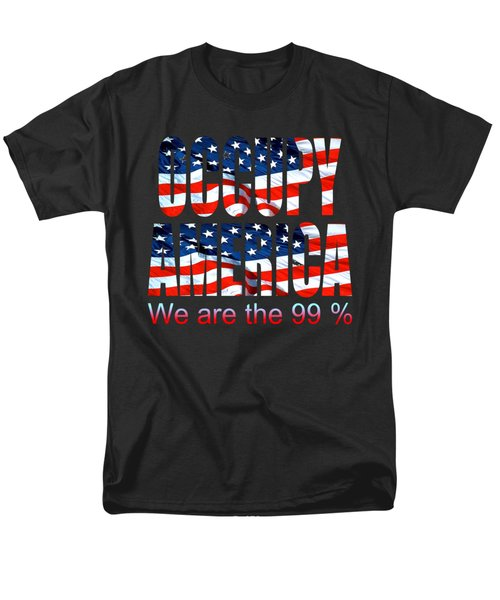 Occupy America 99 Percent - Tshirt Design Men's T-Shirt  (Regular Fit)