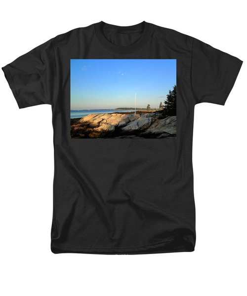 Men's T-Shirt  (Regular Fit) featuring the photograph Ocean Point by Lois Lepisto