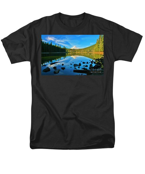 October On The Lake Men's T-Shirt  (Regular Fit) by Sheila Ping