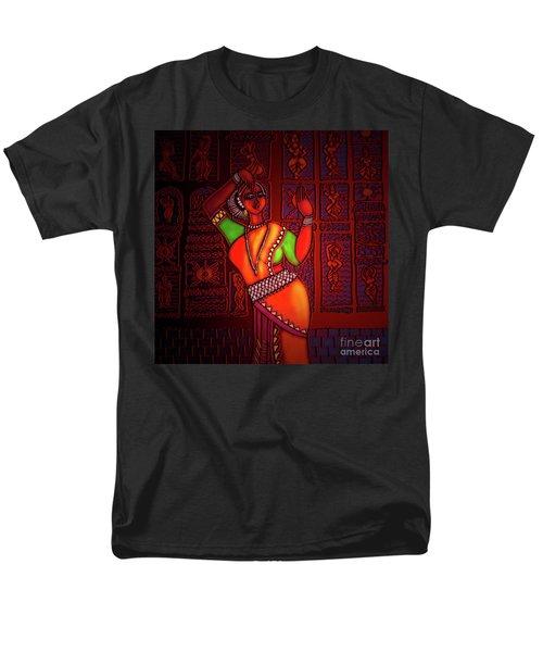 Men's T-Shirt  (Regular Fit) featuring the digital art Odissi Dancer by Latha Gokuldas Panicker