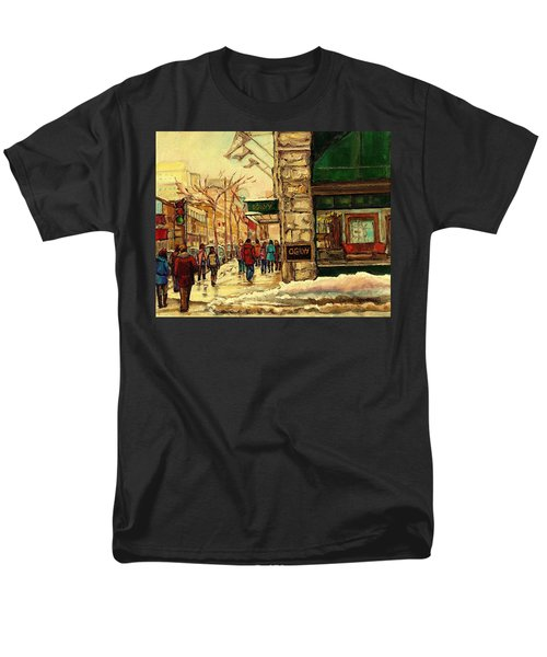 Ogilvys Department Store Downtown Montreal Men's T-Shirt  (Regular Fit) by Carole Spandau