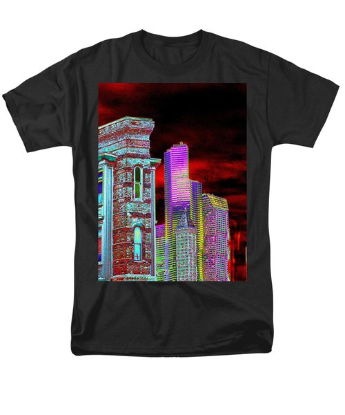 Old And New Seattle Men's T-Shirt  (Regular Fit) by Tim Allen