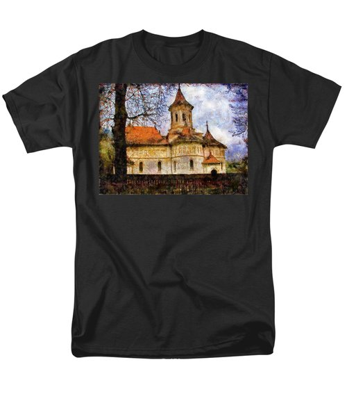 Old Church With Red Roof Men's T-Shirt  (Regular Fit) by Jeff Kolker