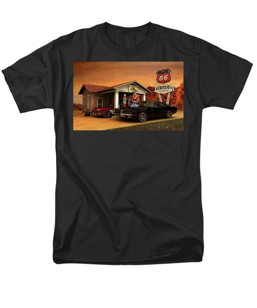 Men's T-Shirt  (Regular Fit) featuring the photograph Old Gas Station American Muscle by Louis Ferreira