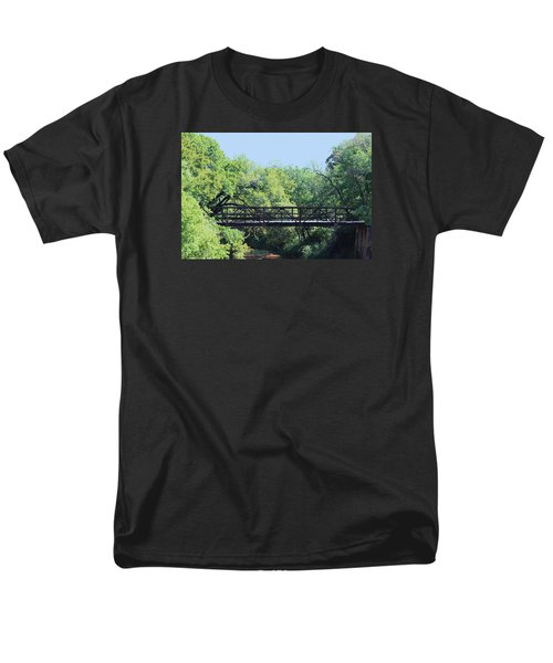 Men's T-Shirt  (Regular Fit) featuring the photograph Old Iron Bridge Over Caddo Creek by Sheila Brown