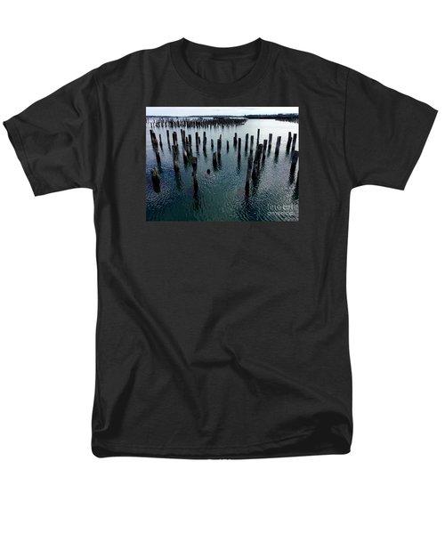 Old Pilings, Casco Bay Portland Trails Men's T-Shirt  (Regular Fit)