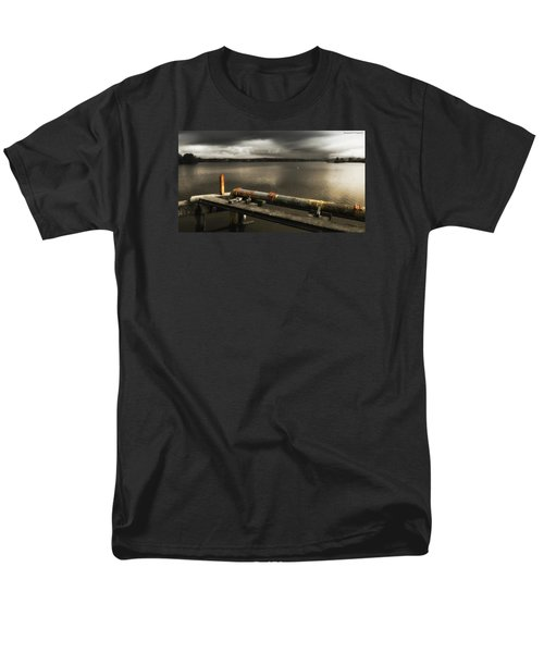 Men's T-Shirt  (Regular Fit) featuring the photograph Old Pipe Line 01 by Kevin Chippindall
