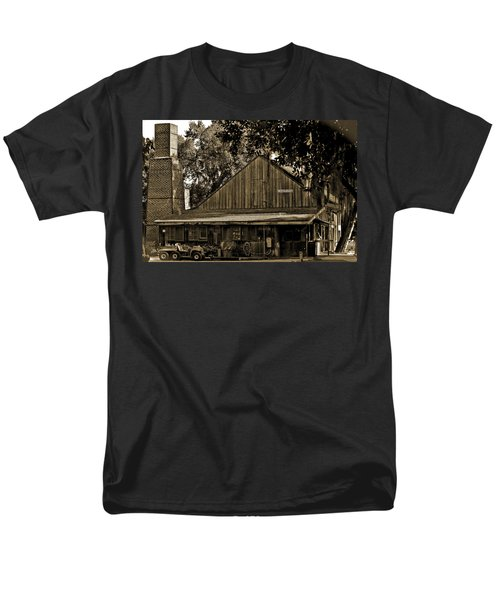 Men's T-Shirt  (Regular Fit) featuring the photograph Old Spanish Sugar Mill Sepia by DigiArt Diaries by Vicky B Fuller