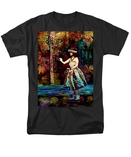 Old Time Hula Dancer Men's T-Shirt  (Regular Fit) by Marionette Taboniar