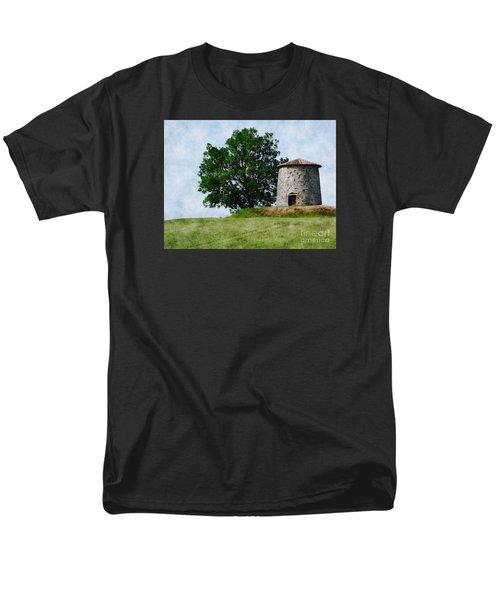 Men's T-Shirt  (Regular Fit) featuring the photograph Old Windmill by Jean Bernard Roussilhe