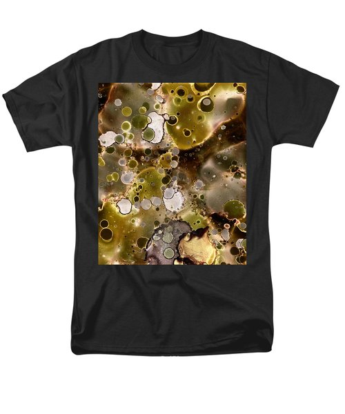 Men's T-Shirt  (Regular Fit) featuring the painting Olive Metal Abstract by Patricia Lintner