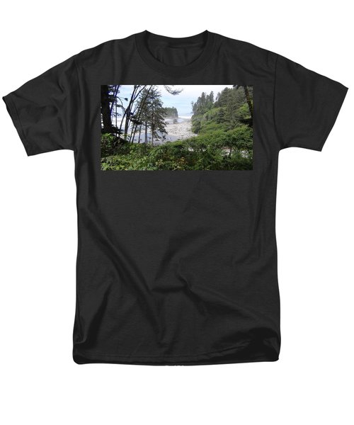 Men's T-Shirt  (Regular Fit) featuring the photograph Olympic National Park Beach by Tony Mathews
