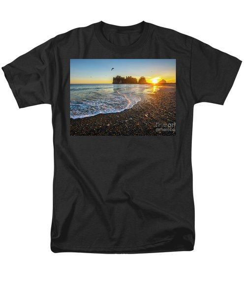 Olympic Peninsula Sunset Men's T-Shirt  (Regular Fit) by Martin Konopacki