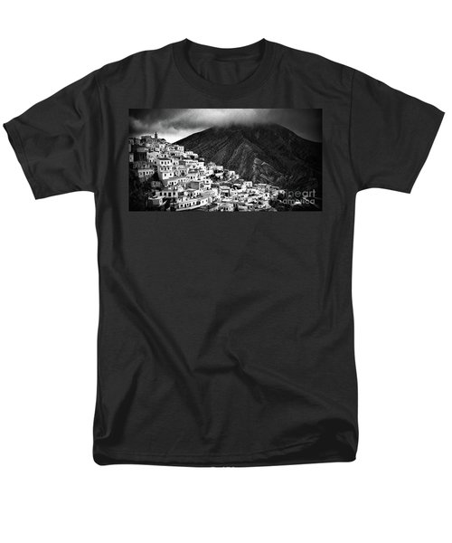 Olympos. Karpathos Island Greece Men's T-Shirt  (Regular Fit) by Silvia Ganora