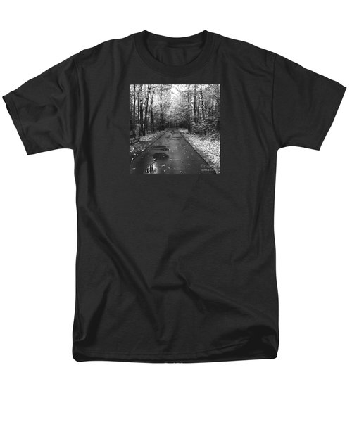 On A Drizzly Day Men's T-Shirt  (Regular Fit) by Rebecca Davis
