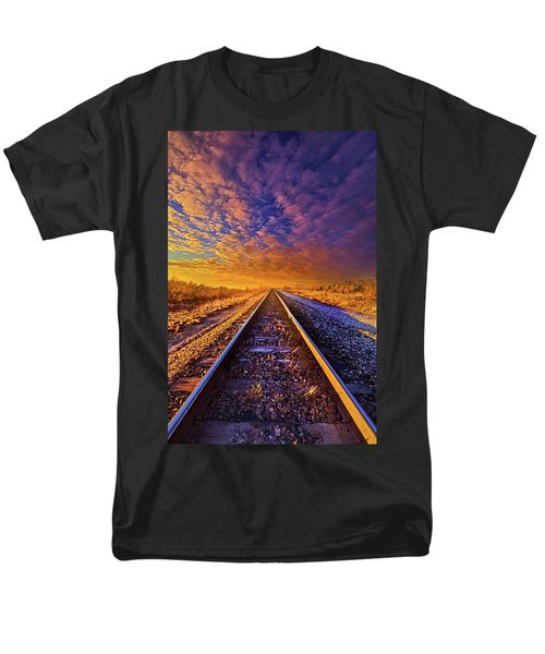 Men's T-Shirt  (Regular Fit) featuring the photograph On A Train Bound For Nowhere by Phil Koch