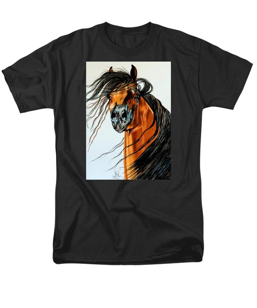 On A Windy Day-dream Horse Series #2003 Men's T-Shirt  (Regular Fit) by Cheryl Poland