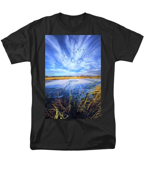 Men's T-Shirt  (Regular Fit) featuring the photograph On Frozen Pond by Phil Koch