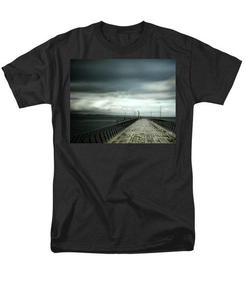 Men's T-Shirt  (Regular Fit) featuring the photograph On The Pier by Perry Webster