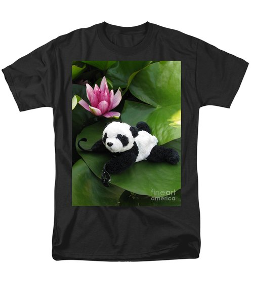 Men's T-Shirt  (Regular Fit) featuring the photograph On The Waterlily by Ausra Huntington nee Paulauskaite