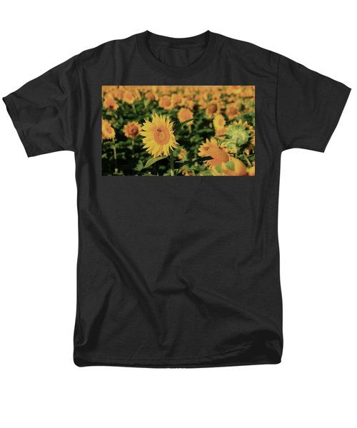 Men's T-Shirt  (Regular Fit) featuring the photograph One In A Million Sunflowers by Chris Berry