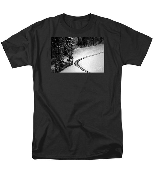 Men's T-Shirt  (Regular Fit) featuring the photograph One Way - Winter In Switzerland by Susanne Van Hulst