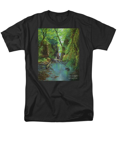 Oneonta Gorge Men's T-Shirt  (Regular Fit) by Jeanette French