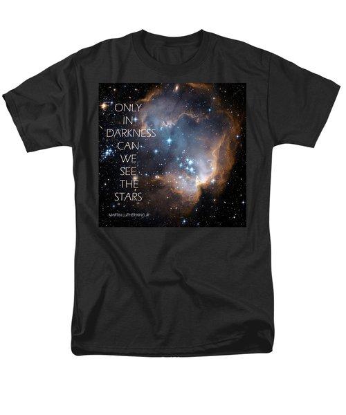 Men's T-Shirt  (Regular Fit) featuring the digital art Only In Darkness by Lora Serra