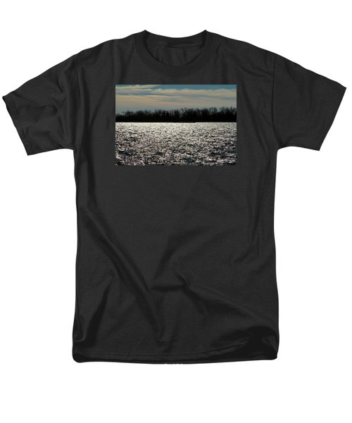 Men's T-Shirt  (Regular Fit) featuring the photograph Ontario Winter Reflections by Valentino Visentini