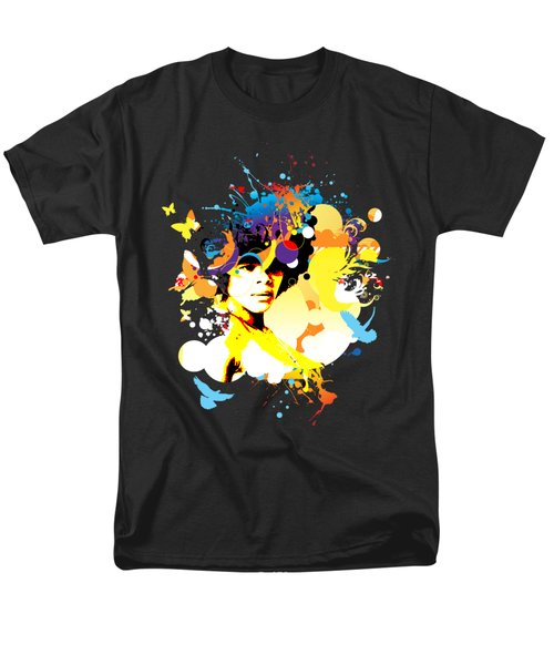 Onxy Doves - Bespattered Men's T-Shirt  (Regular Fit) by Chris Andruskiewicz
