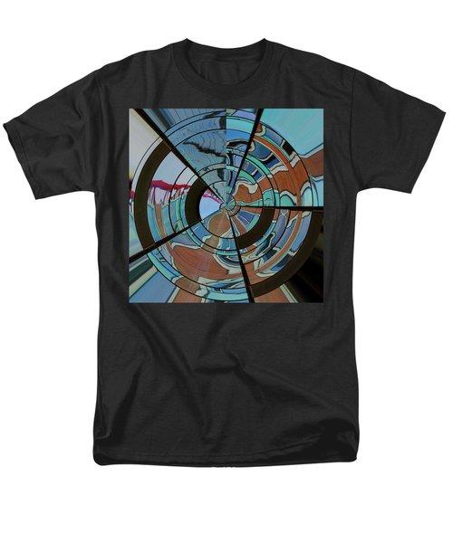 Men's T-Shirt  (Regular Fit) featuring the photograph Op Art Windows Orb by Marianne Campolongo